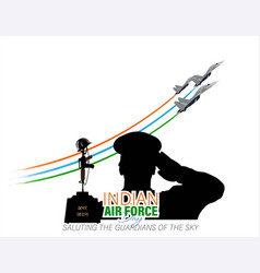 Indian air force day observed on october 8 vector