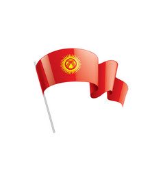 Kirghizia flag on a white vector