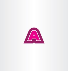 magenta a letter logotype logo icon sign vector image