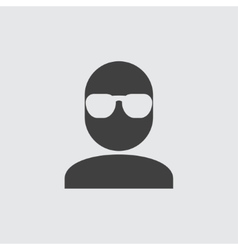 Man in glasses icon vector image