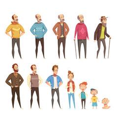 men generation decorative icons set vector image