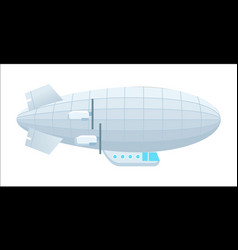 Modern dirigible isolated icon vector