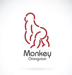 Monkey orangutan vector