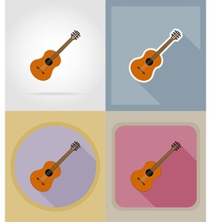 music items and equipment flat icons 06 vector image