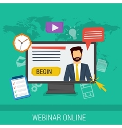online webinar e-learning professional lectures vector image