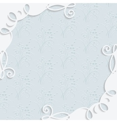 Ornamental frame in vintage style vector image