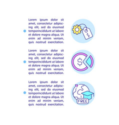 Paid and unpaid internship concept line icons vector