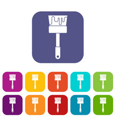 paint brush icons set vector image