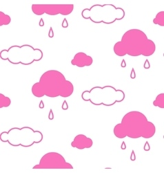 Pink sky clouds seamless pattern vector image