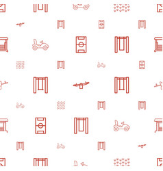Playground icons pattern seamless white background vector
