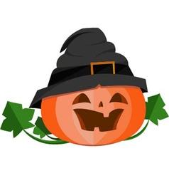 Pumpkin in halloween upload vector
