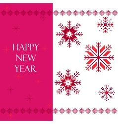 Red Snowflakes vector image