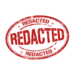 redacted sign or stamp vector image