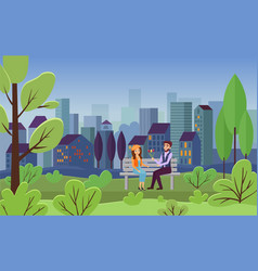 romantic date city leisure vector image