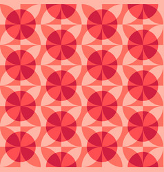 Rounded geometric forms abstract seamless pattern vector