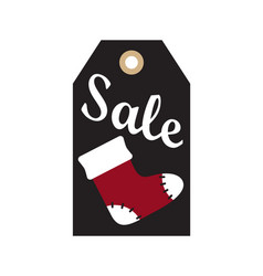 Sale new year tag sample on vector