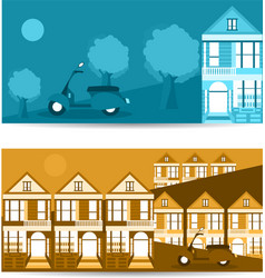 San francisco landmarks horizontal flat design vector
