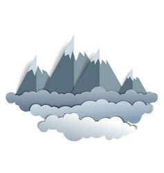 Scenic landscape of mountain peaks range summer vector