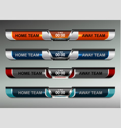 Scoreboard design elements vector