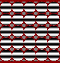 Seamless abstract circle pattern design vector
