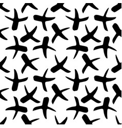 seamless pattern with x symbols vector image