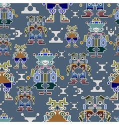 Seamless robots pattern vector