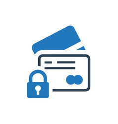 Secure payment card icon vector