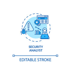 Security analyst concept icon vector