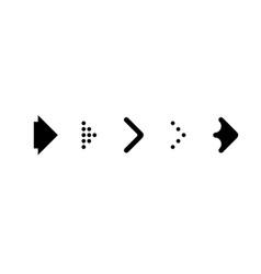 set black arrows arrow icon arrow vector image