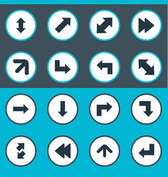 Set of simple cursor icons vector