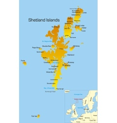 Shetland islands vector