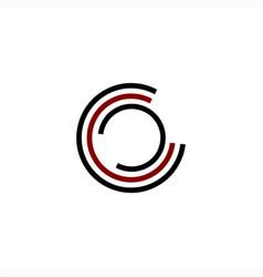 simple c cc ccc cco initials company logo vector image