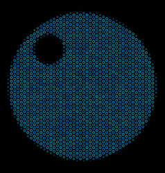 Sphere mosaic icon of halftone circles vector