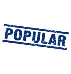 square grunge blue popular stamp vector image