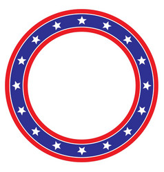 Star circle red white and blue background vector