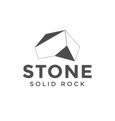 stone logo design inspiration vector image