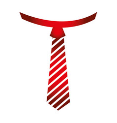 Striped tie icon vector