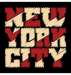 T shirt typography New York drawn vector image