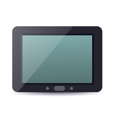 Tablet computer device with blank screen vector