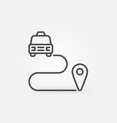 taxi route concept outline icon vector image