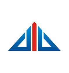 triangle line arrow logo vector image
