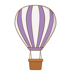 Violet hot air balloons vector