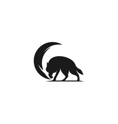 wolf tore with black moon vector image