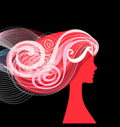 woman beauty salon vector image