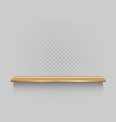 wooden shelf on transparent background vector image