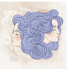 Zodiac sign gemini as a beautiful vector