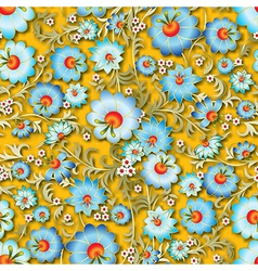 abstract seamless blue spring floral ornament and vector image