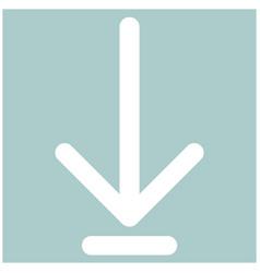 Down arrow or load symbol the white color icon vector