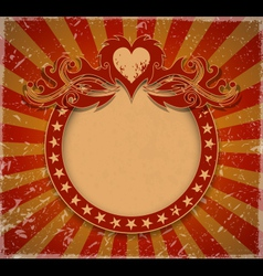 Romantic vintage background vector image
