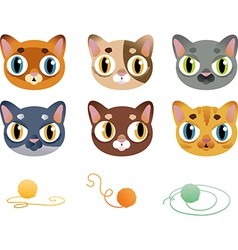 Set of cartoon cats vector image vector image